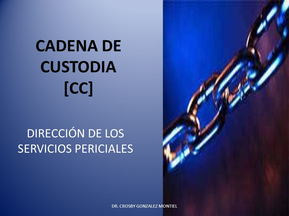 CADENA DE CUSTODIA [CC]